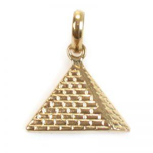 18K Gold Pyramid pendant
