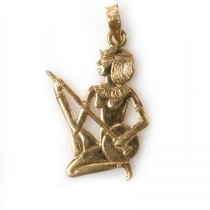 18K Gold Small Musician Pendant