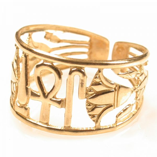 Health, Life and Power 18K Gold Ring