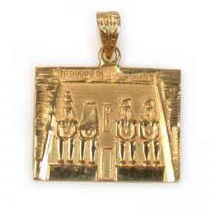 18K Gold Ramses Temple Pendant