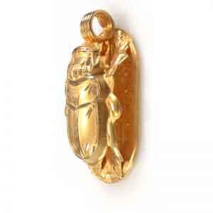 18K Gold Scarab Pendant