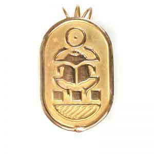 18K Gold royal scarab Jewelry pendant