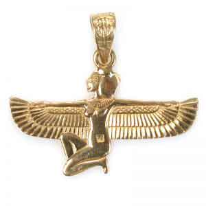 Ancient Egyptian goddess isis jewelry 18K Gold