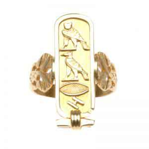 Cartouche with Diamond-cut Ring