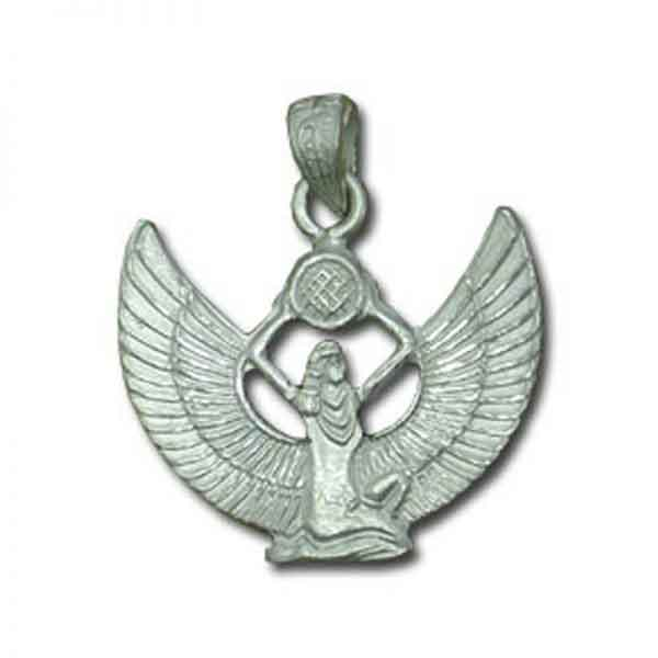 Egyptian Winged Isis Sterling silver