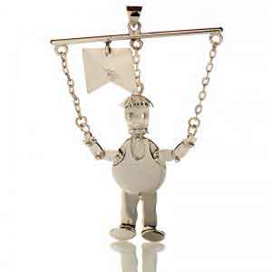 Handmade silver shege3 pendant