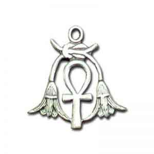 Key of Life (Ankh) with two Lotus Flowers