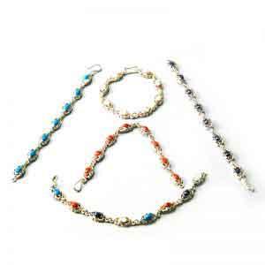 Scarab Bracelet - Egyptian Silver Jewelry