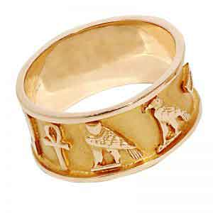 Wedding Band Cartouche 18K Gold
