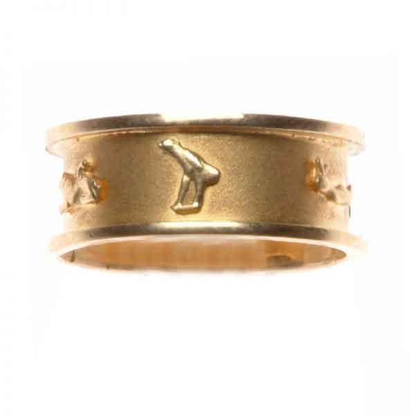 Wedding Band Cartouche 18K Gold