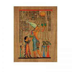 Akhnaton sacrifices to Aten the Sun-disk