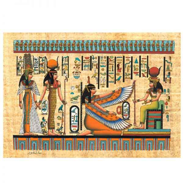 Ancient Egyptian Goddesses papyrus painting