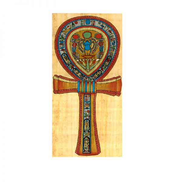Ankh (Key of Life) papyrus painting