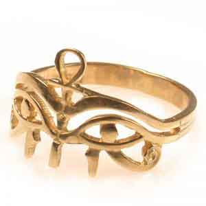 Ankh with two Eye of Horus Ring