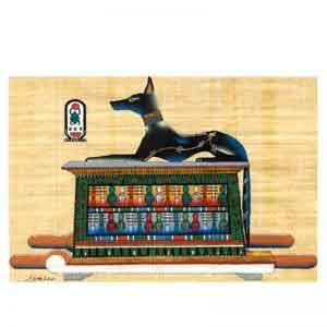 Anubis Papyrus painting – Ancient Egyptian