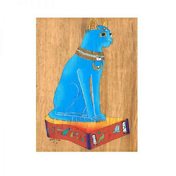 Bastet Cat Papyrus painting