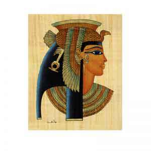 Cleopatra papyrus painting