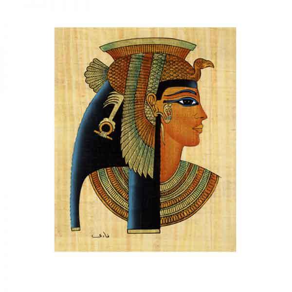 Cleopatra papyrus painting