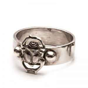 Egyptian Silver jewelry Scarab Ring