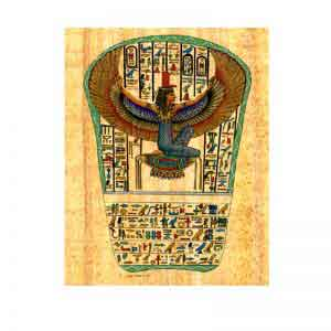 Goddess Isis papyrus painting
