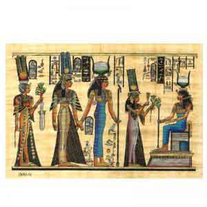 Isis Seated on her Throne Papyrus