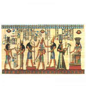 The King Holding the Crook and Flail papyrus