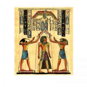 The Pharaonic kings papyrus painting