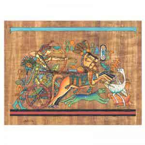 Tutankhamun Hunting Geese Papyrus