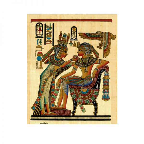 Tutankhamun and his beautiful wife Ankhesenamun