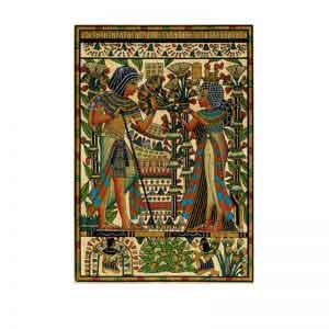 Tutankhamun and his wife Ankhesenamun Papyrus