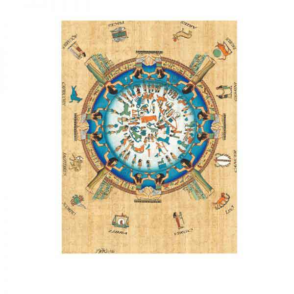 Zodiac Signs – Egyptian Papyrus painting