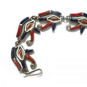 Eye of Horus Bracelet sterling silver