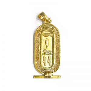 Filigree 18K gold Egyptian Cartouche Jewelry