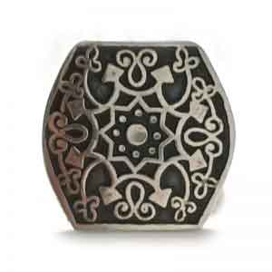 Islamic architects silver ring