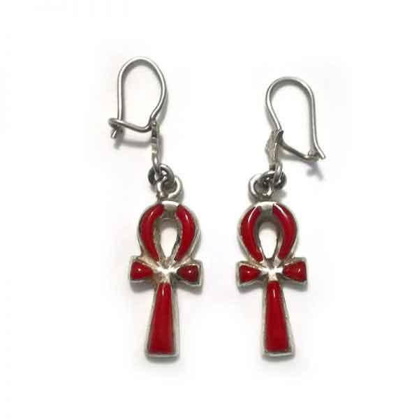 Key Of Life sterling silver Earring