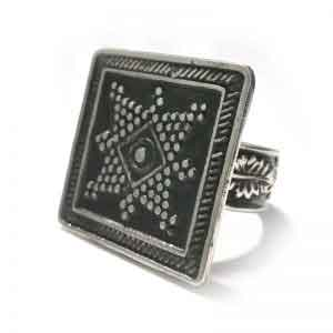 Old Arabic Egypt inspired design silver ring
