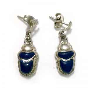 Scarab sterling silver Earring