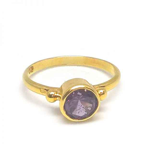 Alexandrite stone 18k gold ring jewelry