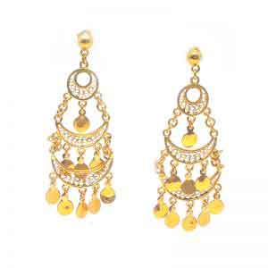 Egyptian Dancer 18K Gold Earrings