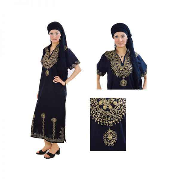 Egyptian Embroidery cotton Dress