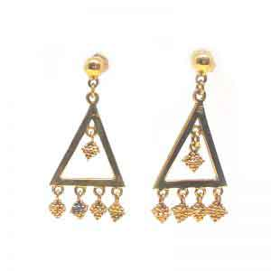 Hanging grapes 18K gold earrings