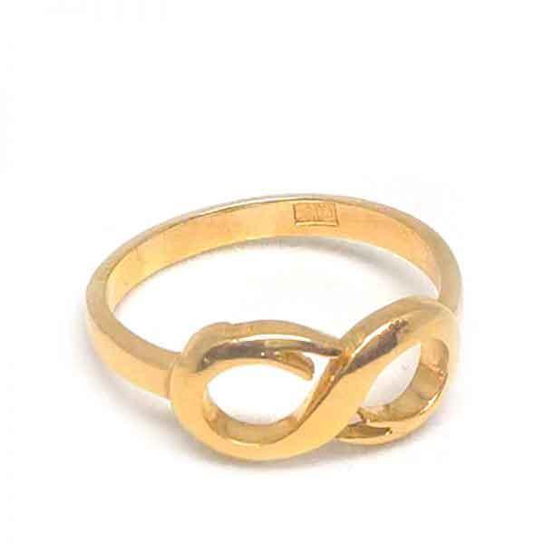 Infinity 18K gold ring