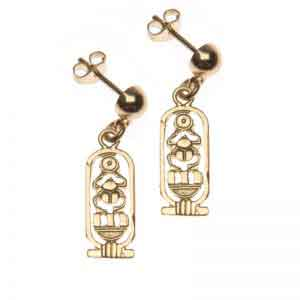 Scarab in Cartouche Jewelry Earrings