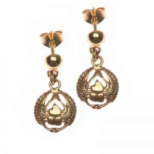 Scarab wings 18K gold earrings Egyptian collection
