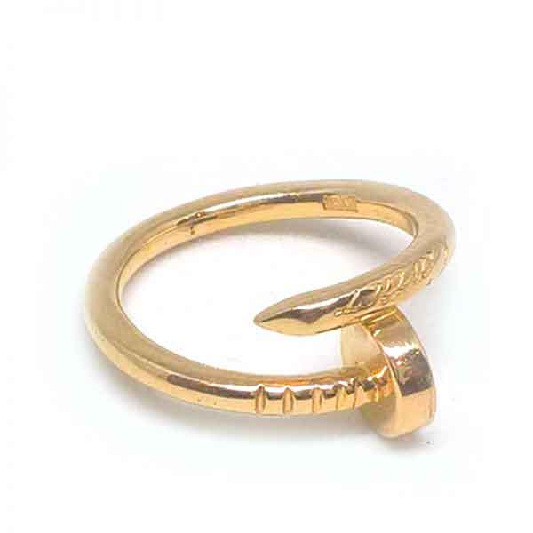 Twisted Nail ring 18K gold