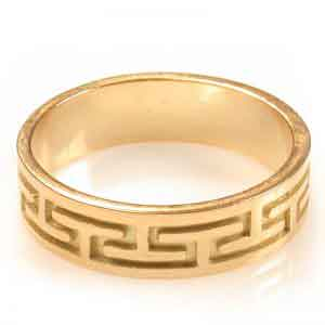 Wedding band 18K Gold Roman design