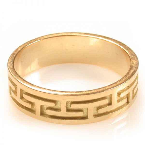 Wedding band 18K Gold Roman design