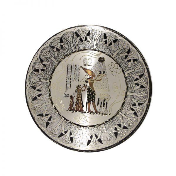 Aknaton sacrifices to Amon Raa copper plate