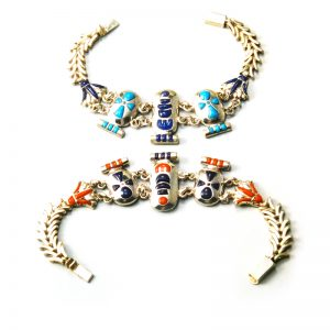 Egyptian Cartouche and Lotus flower Bracelet