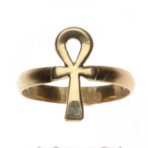 Egyptian ancient Ankh ring jewelry 18k gold